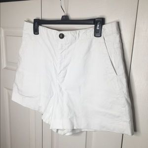 Rag and Bone 100% silk white lined shorts